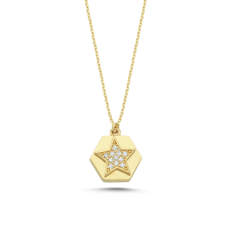 Altın Yıldız Kolye